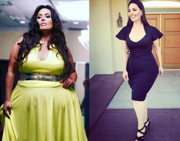 Рози Меркадо до и после похудения