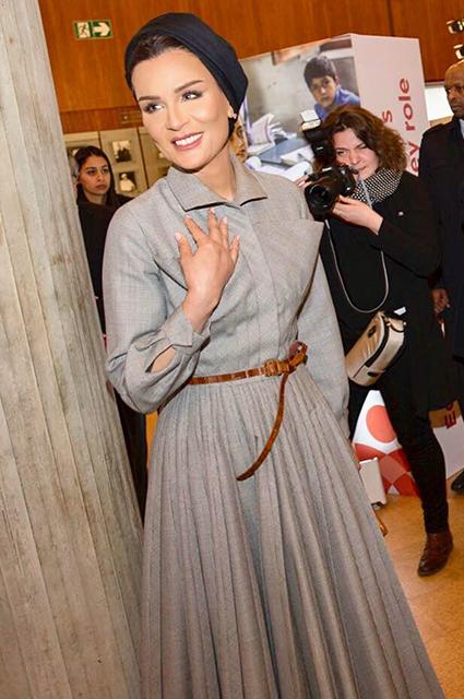Шейха Моза в платье от Диор