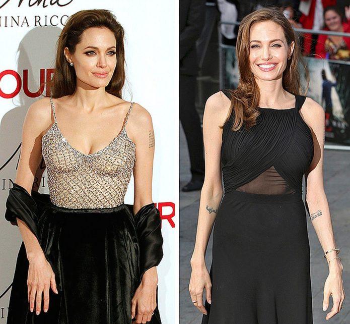 Анджелина Джоли до и после пластики груди