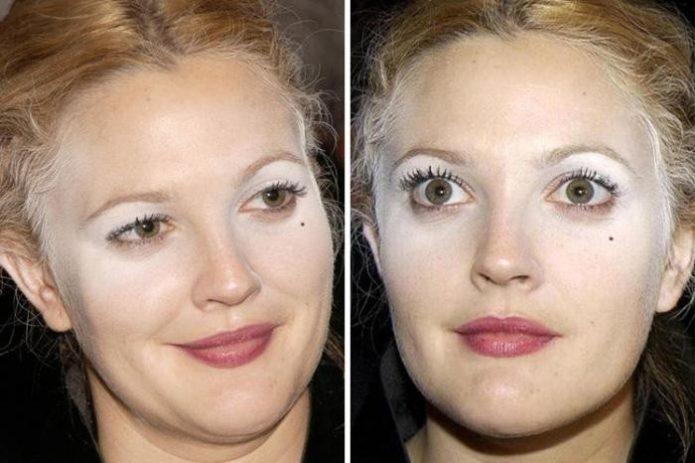 Неудачный макияж звёзд