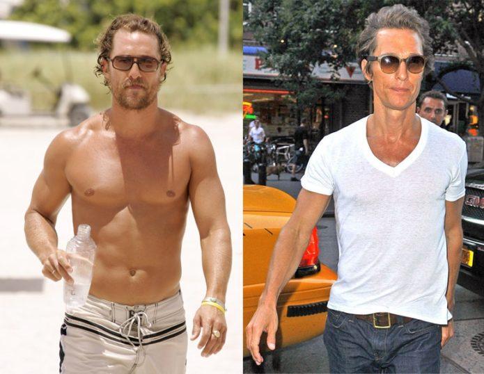 Мэттью МакКонахи до и после похудения