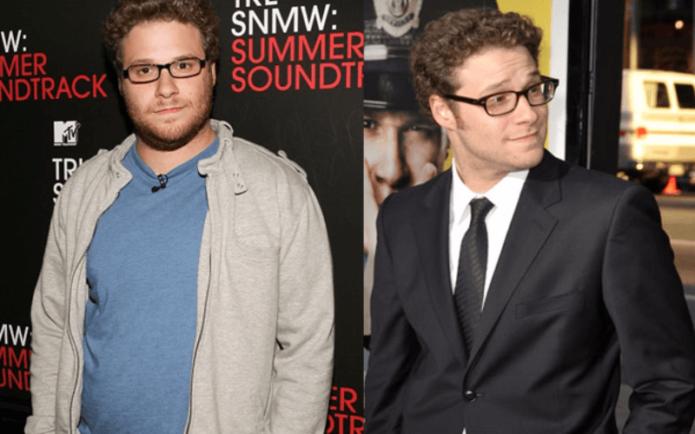 Сет Роген до и после похудения