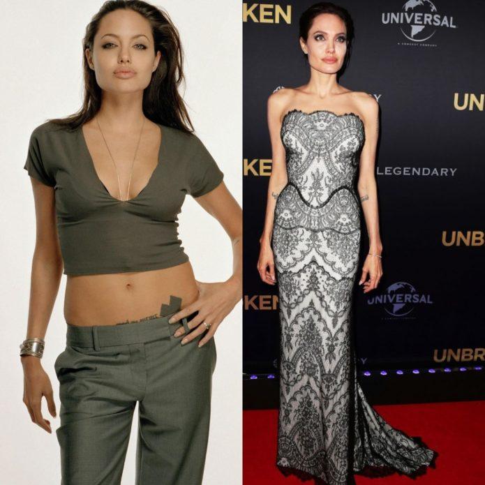 Анджелина Джоли до и после похудения