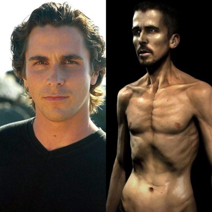 Кристиан Бейл до и после похудения