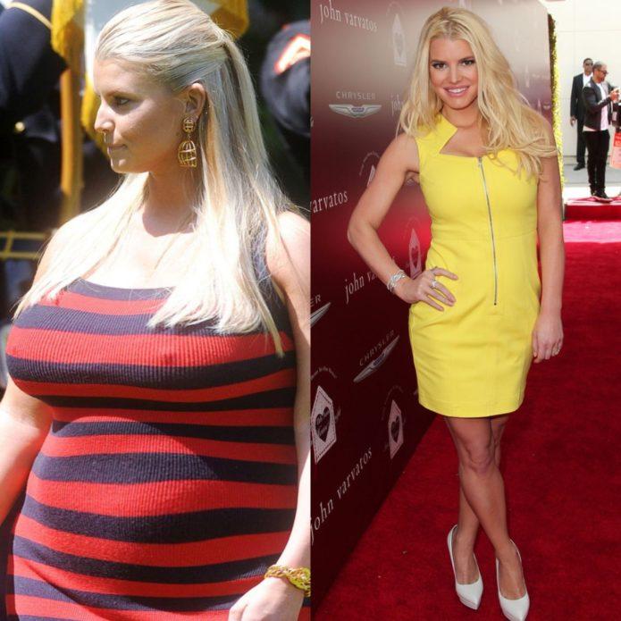 Джессика Симпсон до и после похудения