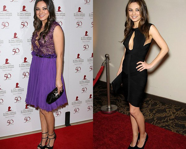 Мила Кунис до и после похудения