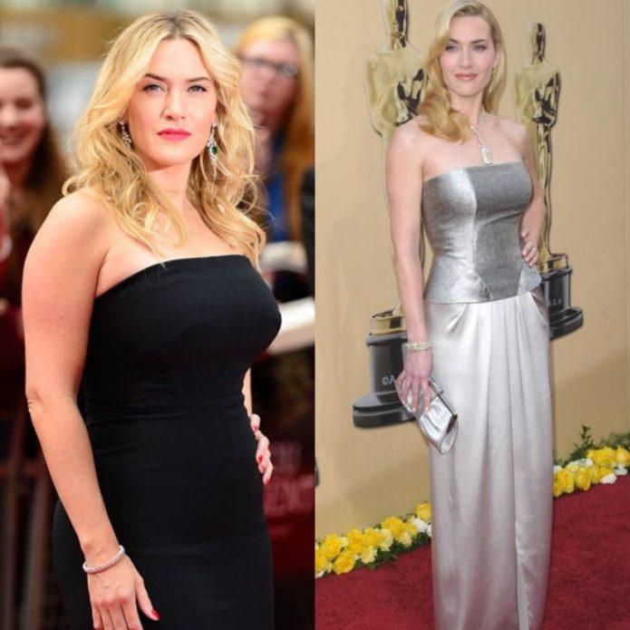 Кейт Уинслет до и после похудения
