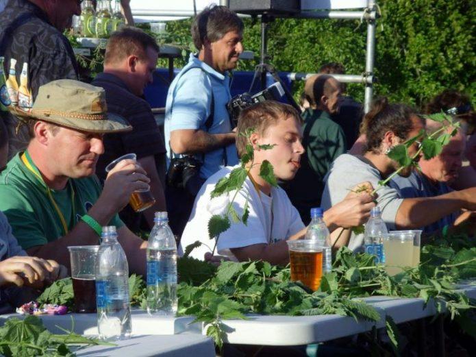 Конкурс по поеданию крапивы