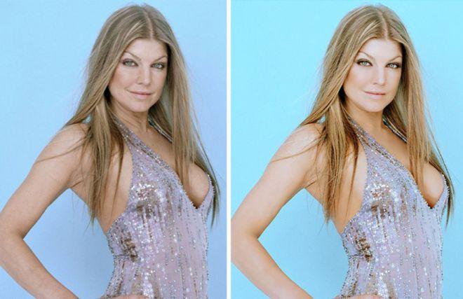 Ферги до и после фотошопа