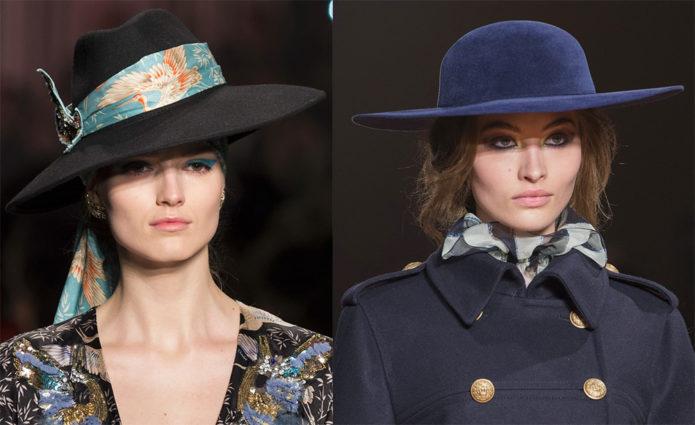Девушки в шляпах с широкими полями