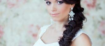 Объемная коса набок