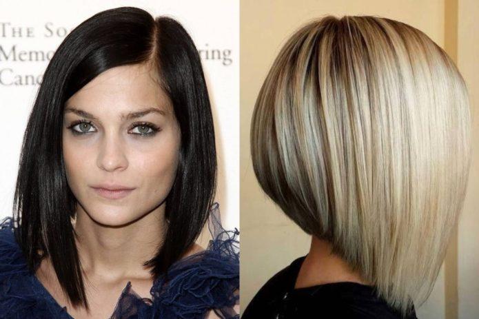 Прямые волосы у девушек