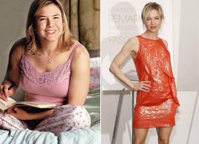 Рене Зеллвегер до и после похудения