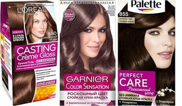 Краски для волос оттенка мокко