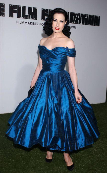 Дита фон Тиз в платье new look
