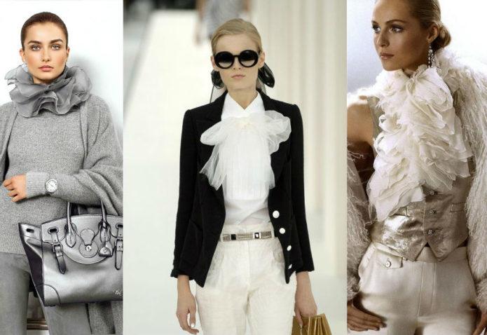 Легкие женские блузы с воланами