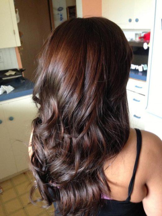 Волосы цвета тёмный мокко