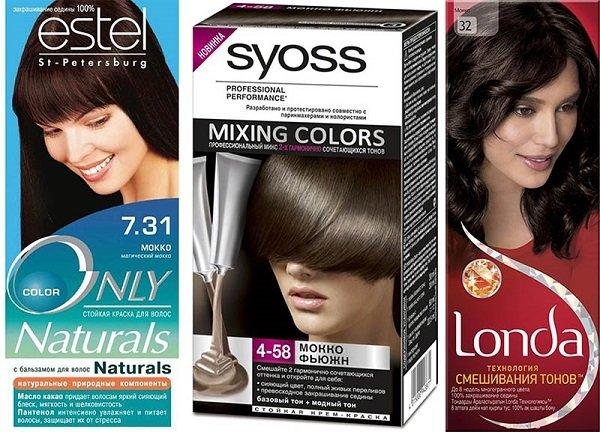 Краска для волос цвета мокко