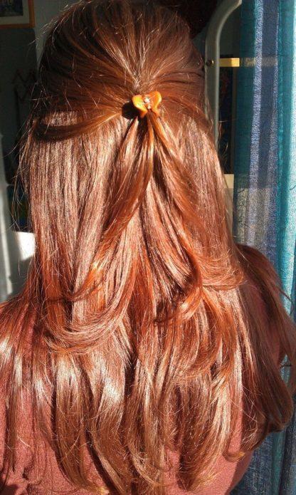 Волосы, окрашенные хной с какао