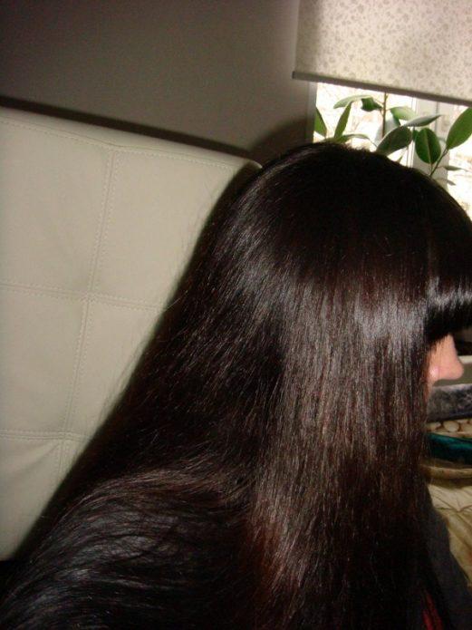 Волосы, окрашенные хной с басмой