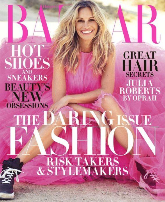 Робертс на обложке Harper's Bazaar