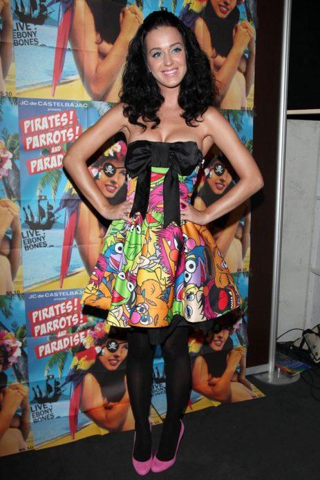 Кэти Пэрри в цветном платье