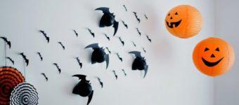 Декор стены на Хеллоуин