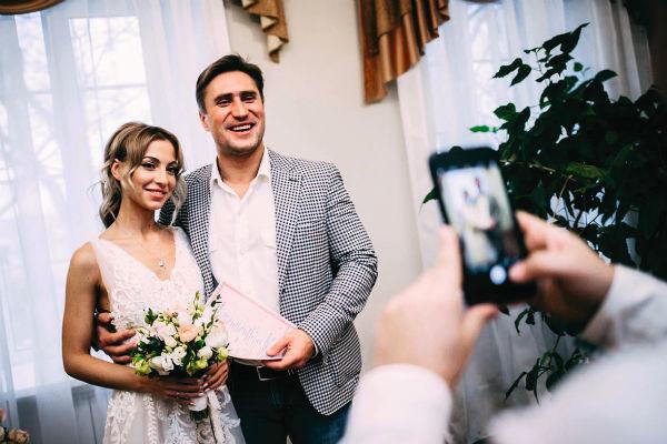 Денис Лебедев и супруга Дарья