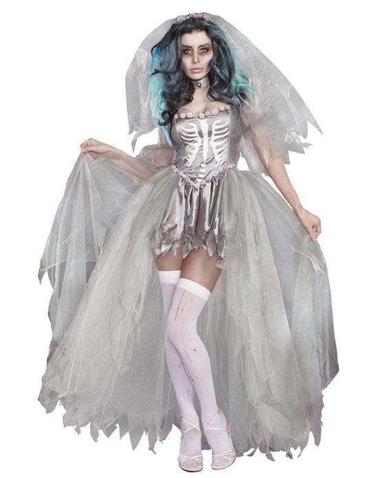Костюм мёртвой невесты на Хэллоуин