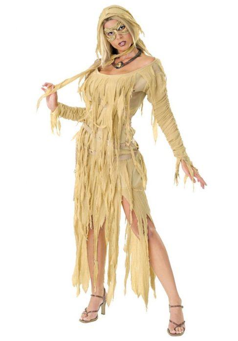 Костюм девушки-мумии на Хэллоуин