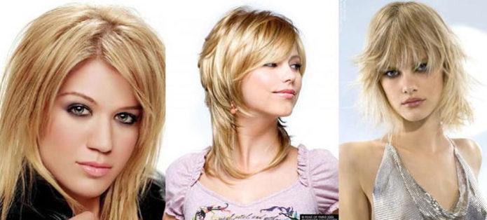 Варианты стрижки на средние волосы