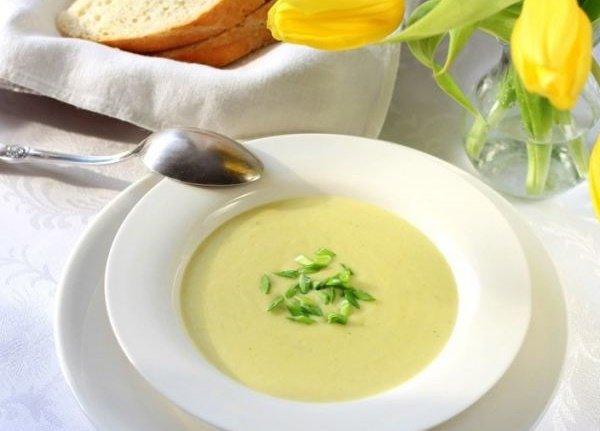 Готовый суп-пюре из картофеля