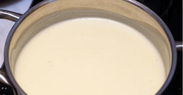 Суп-пюре в кастрюле