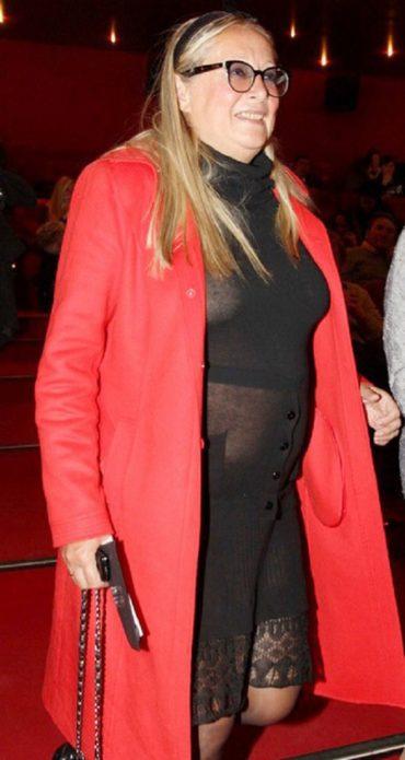 Татьяна Михалкова в просвечивающем платье