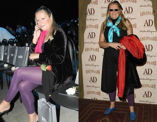 Татьяна Михалкова в фиолетовых лосинах