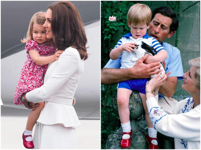Кейт Миддлтон с дочкой и принц Гарри с отцом