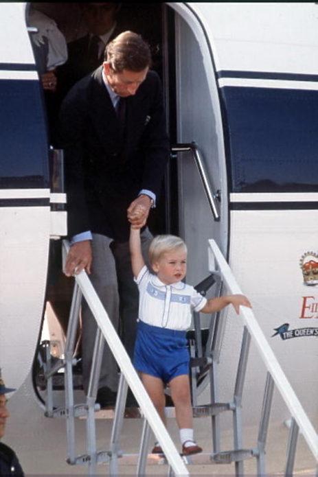 Принц Чарльз в прицем Гарри
