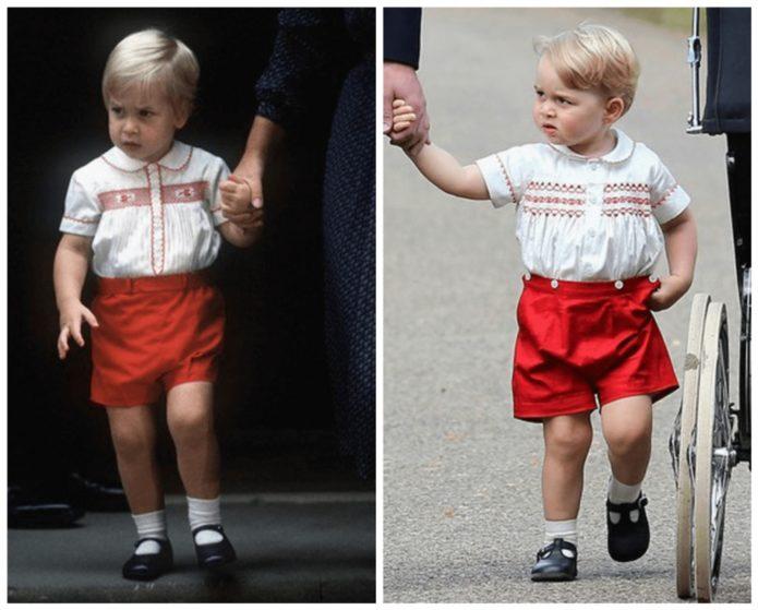 Маленький принц Уильям и принц Джордж
