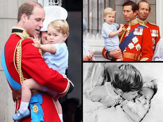 Принц Гарри с сыном и Чарльза с маленьким сыном