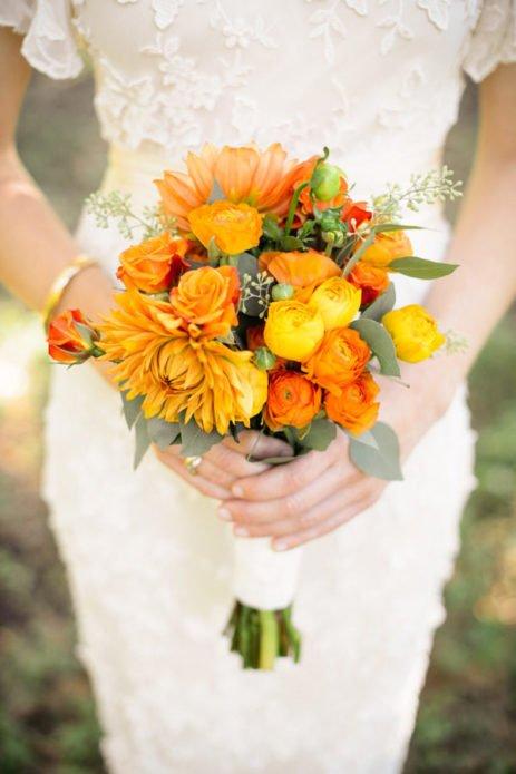 Букет в жёлто-оранжевых тонах