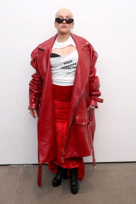 Кристина Агилера на Неделе моды 2018