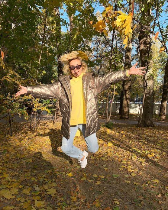 Полина Гагарина в куртке