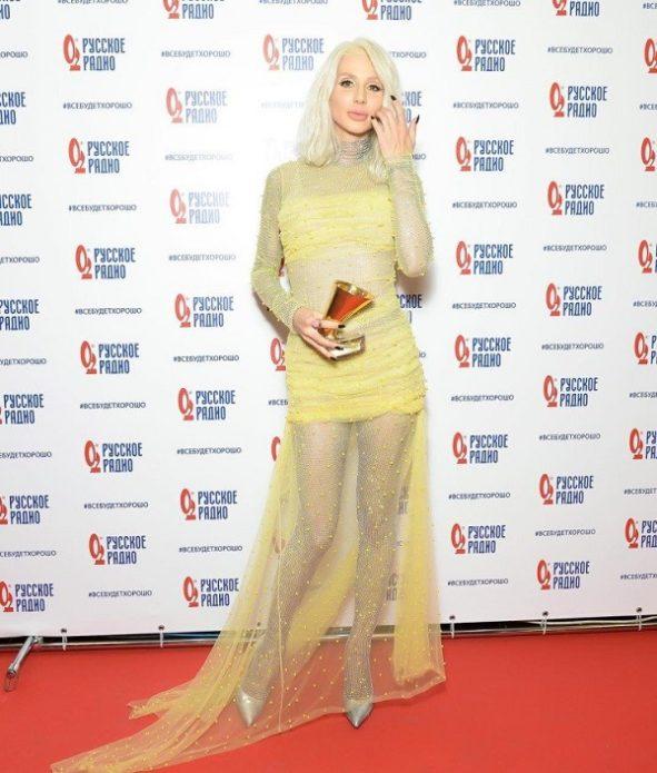 Светлана Лобода в жёлтом платье