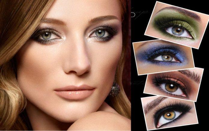 Цветные smoky eyes