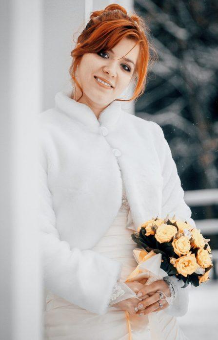 Свадебная шубка — это не только модно, но и практично