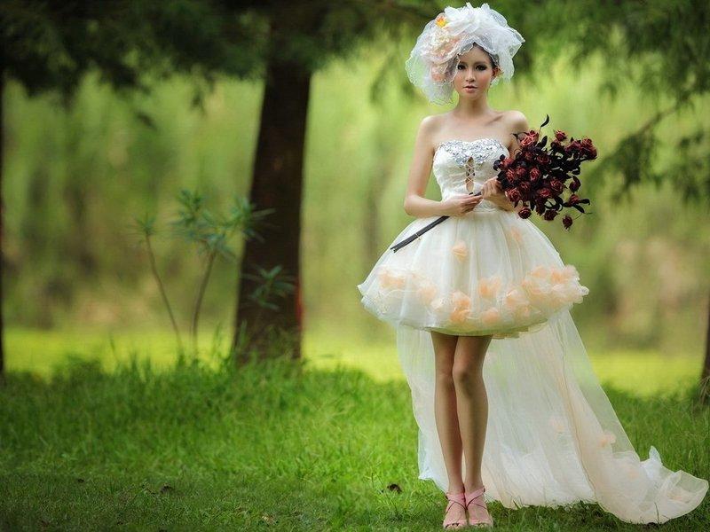 фрагмент фотосессия в свадебных нарядах вариант подойдет