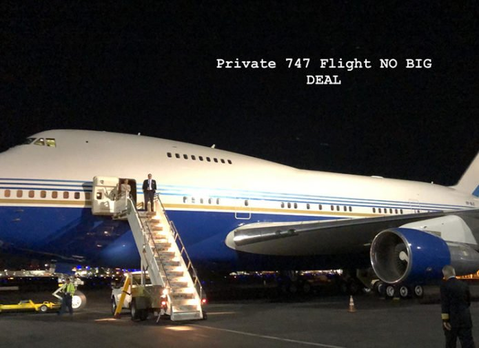 Двухэтажный самолет Ким Кардашьян и Канье Уэста