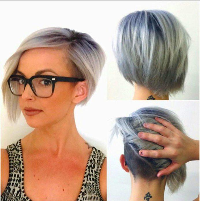 Деловой вариант на волосах средней длины