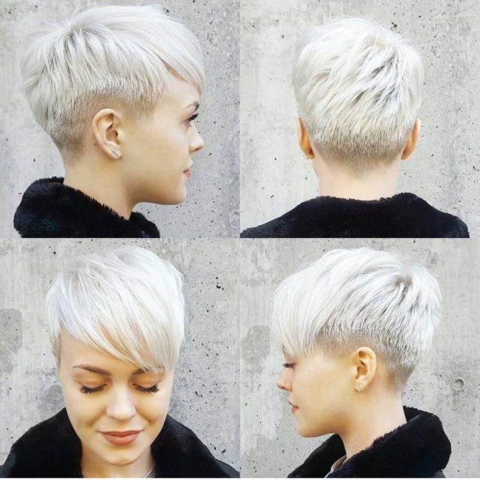 Причёска с длинной чёлкой