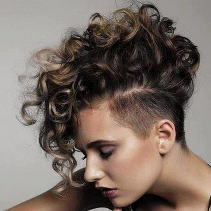 Андеркат на кудрявые волосы